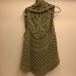 Green Crocheted Vest